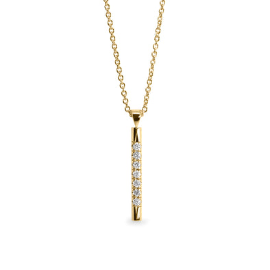 Claire Gold Necklace white Diamonds