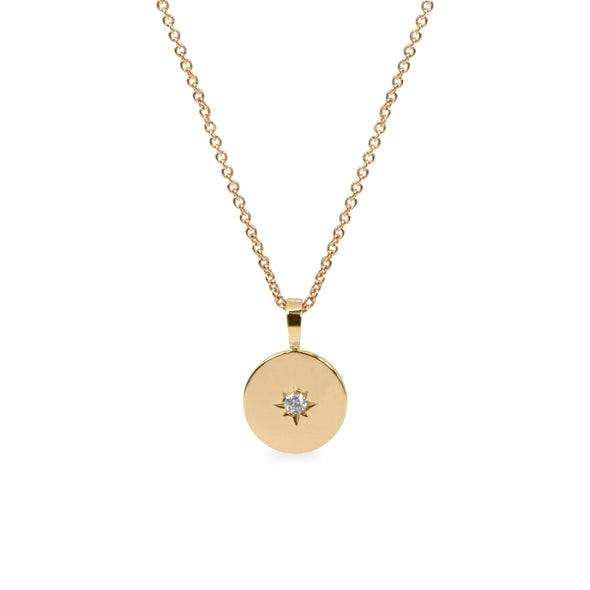 ILU NECKLACE WITH A DIAMOND STAR SETTING