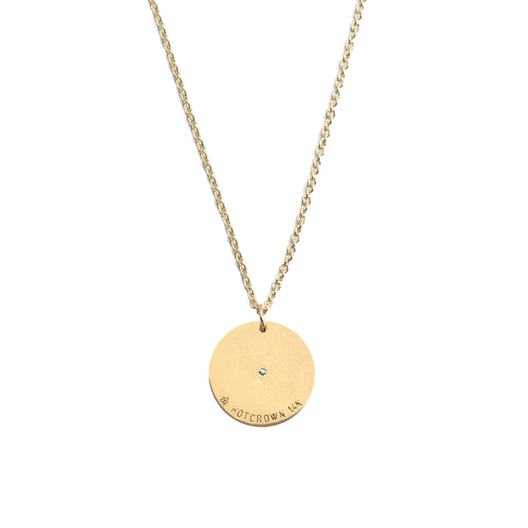 gold necklace round pendant
