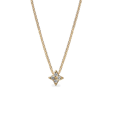 Saturn Gold Necklace Diamonds