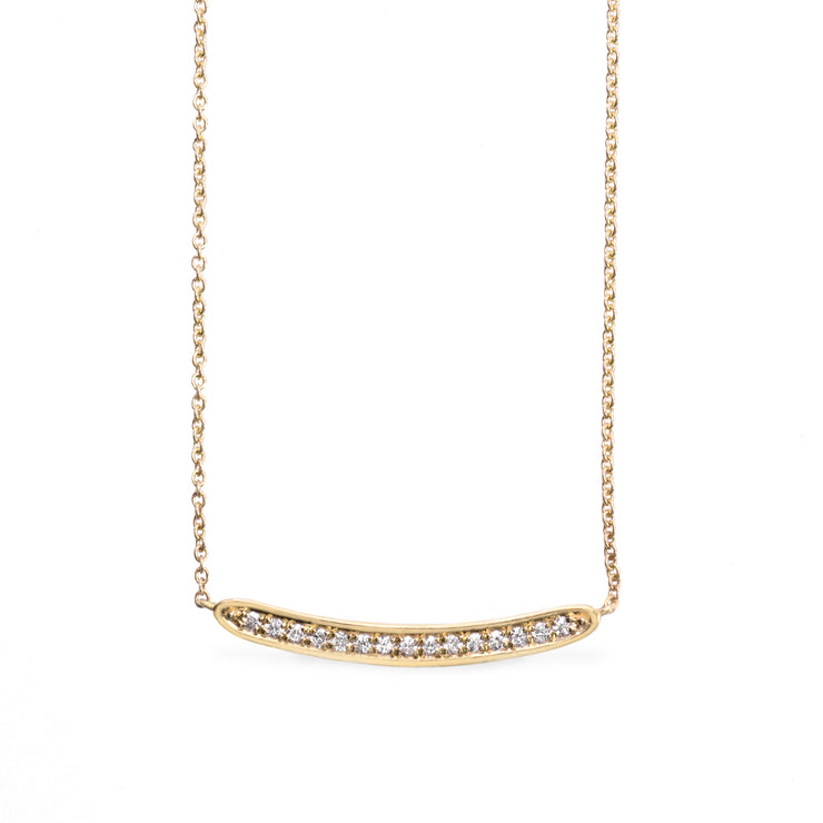 Florence necklace with white diamonds