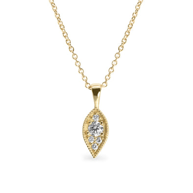 Jane Gold Necklace White Diamonds