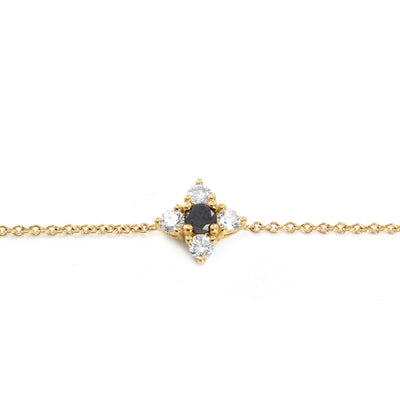 gold bracelet with flower of diamonds