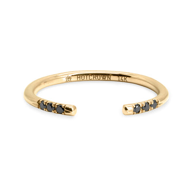 Brenda Gold Ring Black Diamonds