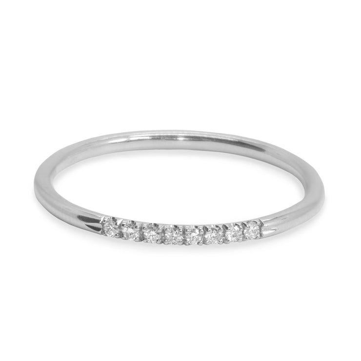 Kelly Ring With White Diamonds