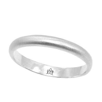 Dylan Wedding Band Matte White Gold