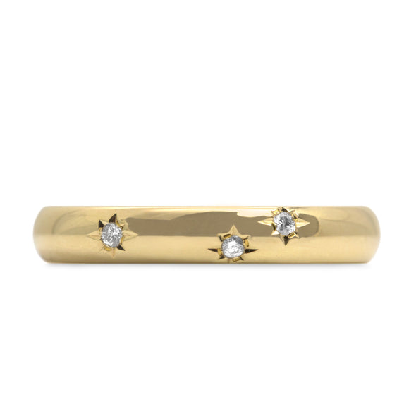 Dylan gold Ring Diamonds Star Setting