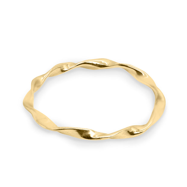 gold twisted wedding band rachel