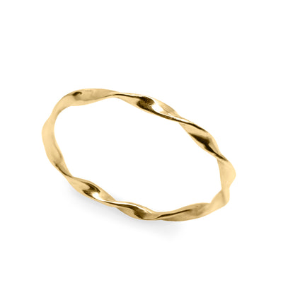 gold twisted wedding band