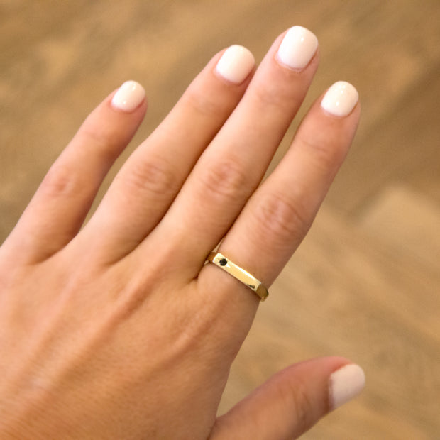 gold ring engraved with name