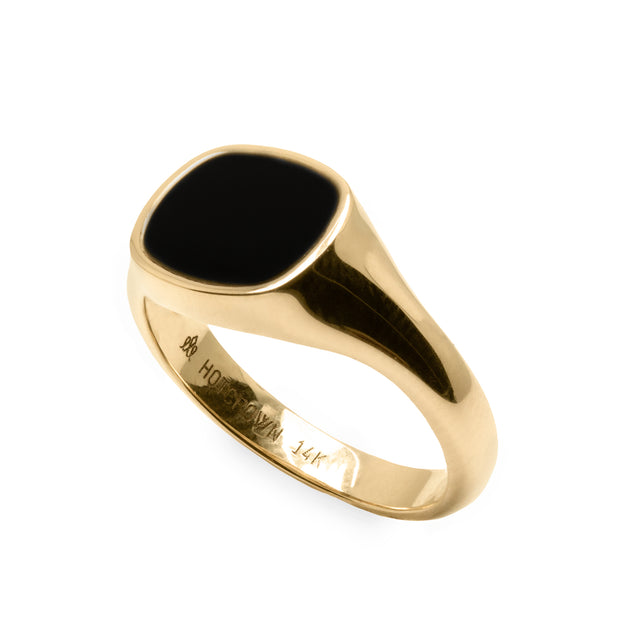 Mila Maria Ring Black Enamel