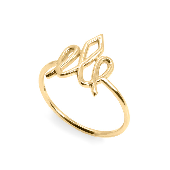 Small Crown Yellow Gold Ring