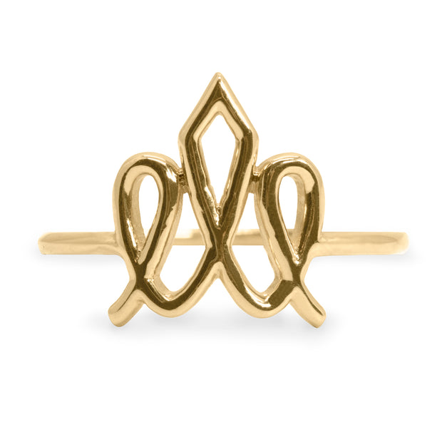 gold ring HOTCROWN logo