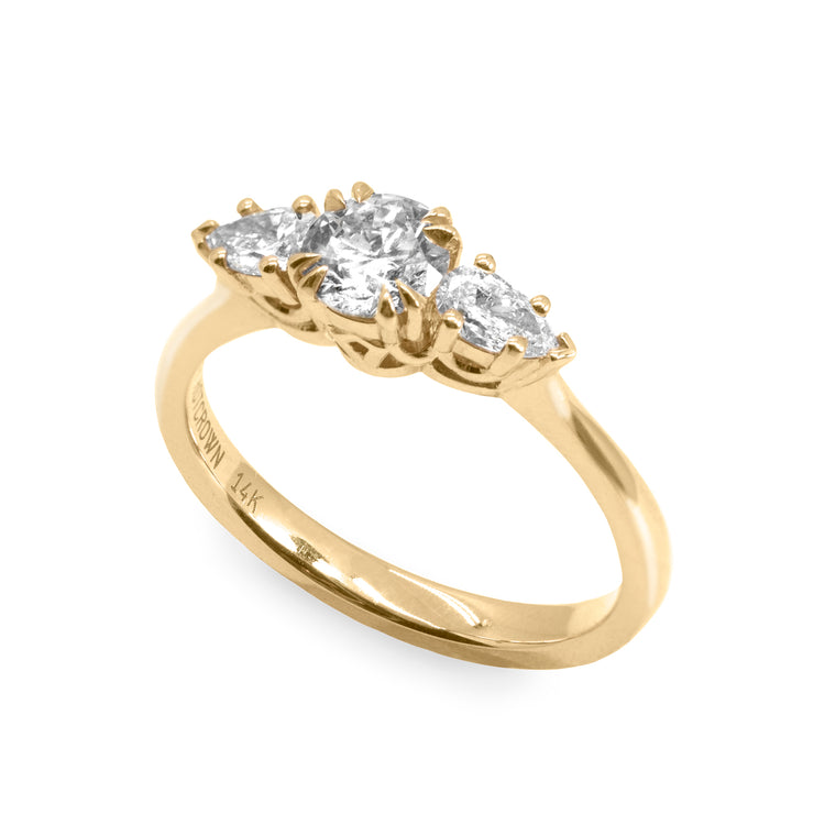 pear and round diamonds