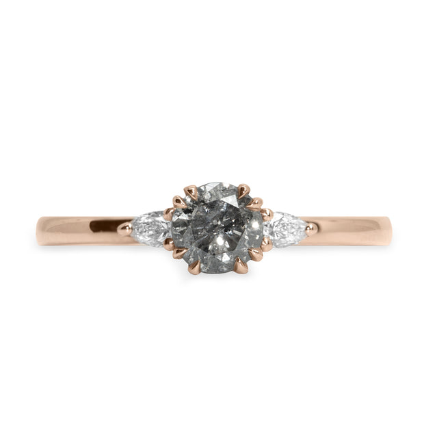 Emma Gold Ring Gray Diamond