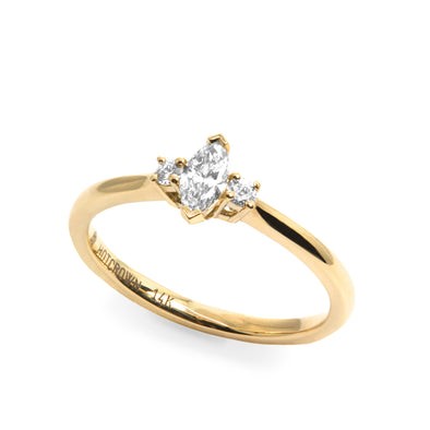 Moscato Gold Ring with Diamonds