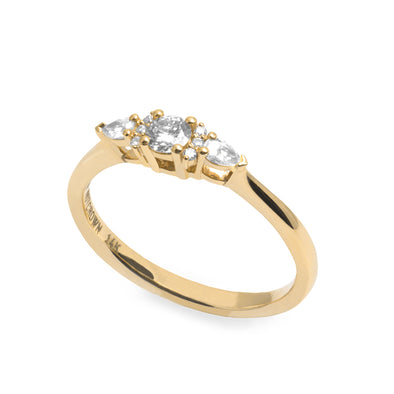 Champaign Gold Ring Diamonds