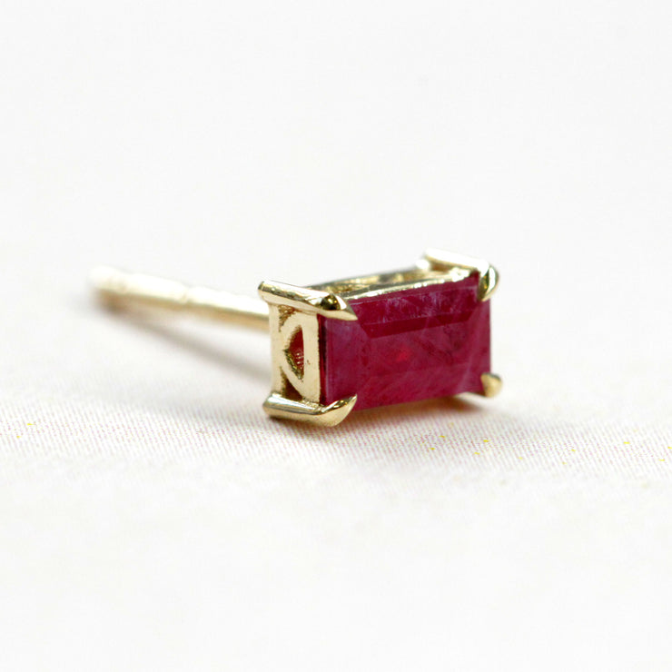 Ruby Gold Earring (Single)