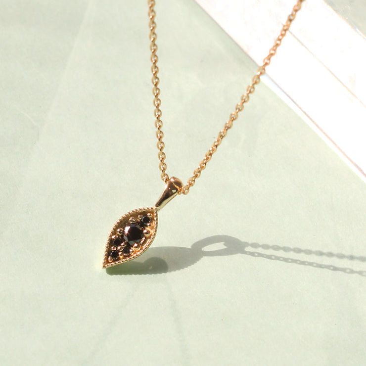 Jane Necklace Yellow Gold Black Diamonds