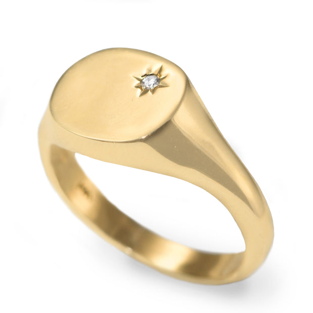 Mila Maria Gold Ring Star Setting