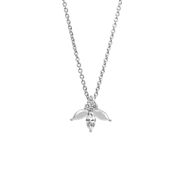 Jeanne Poisson Necklace- white gold