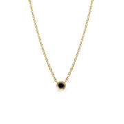 Margarita Gold Necklace Black Diamond