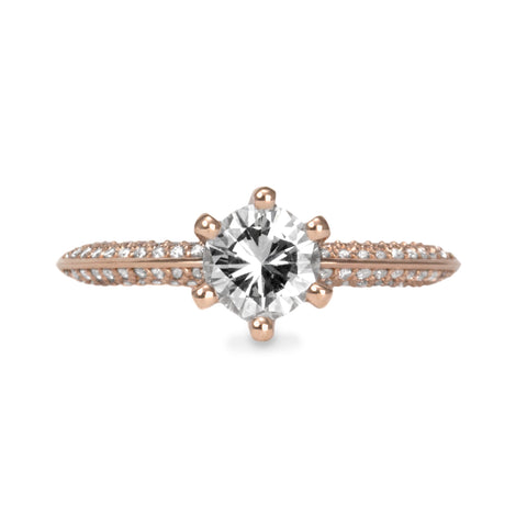Gina Gold ring Diamond setting