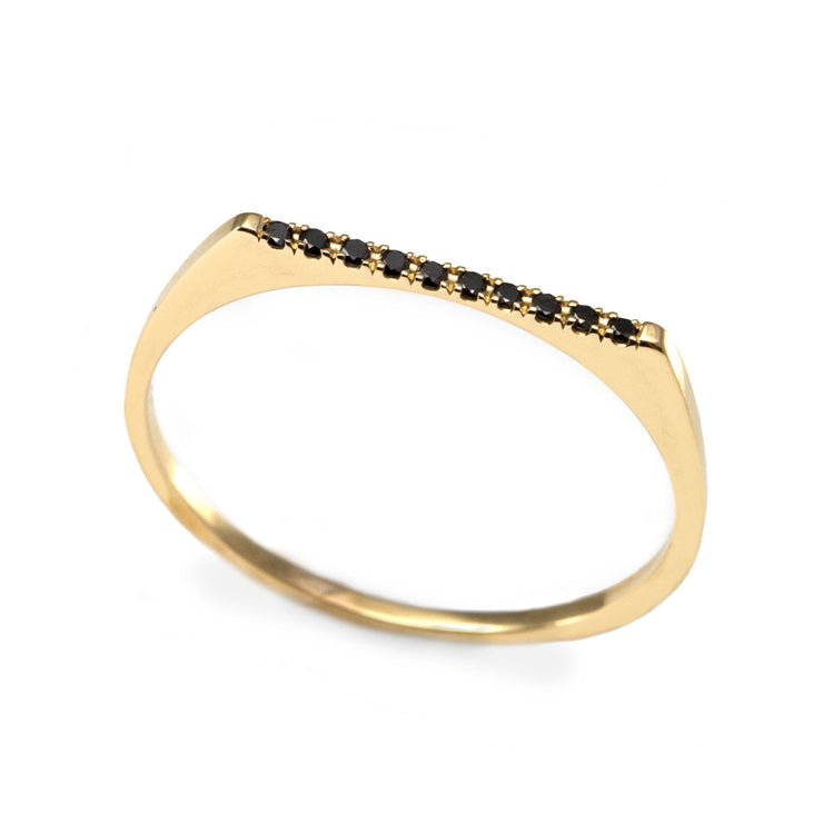 super thin ring with diamonds