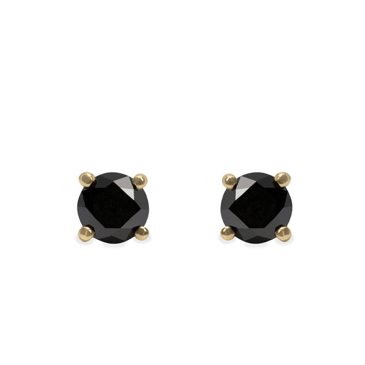 4 mm black diamond earrings