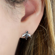 Pauline Félicité Earrings- White Gold and Black Diamonds