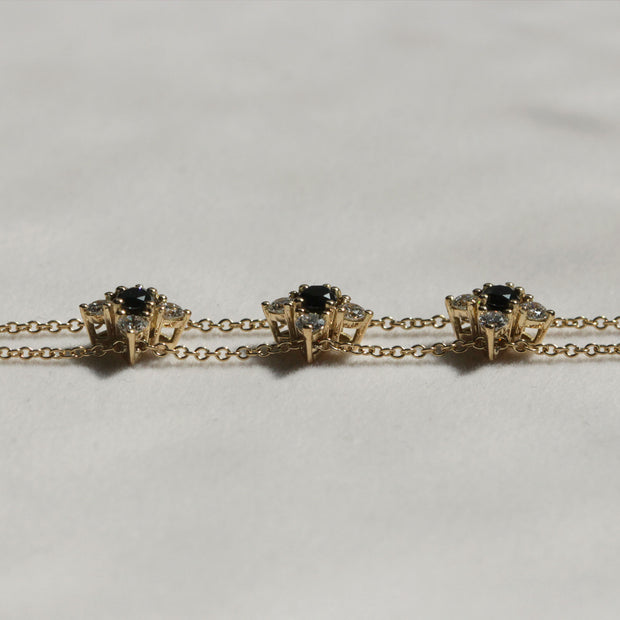 Maia Gold Bracelet Black & White Diamonds