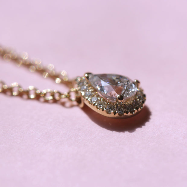Diana Gold Necklace White Diamonds