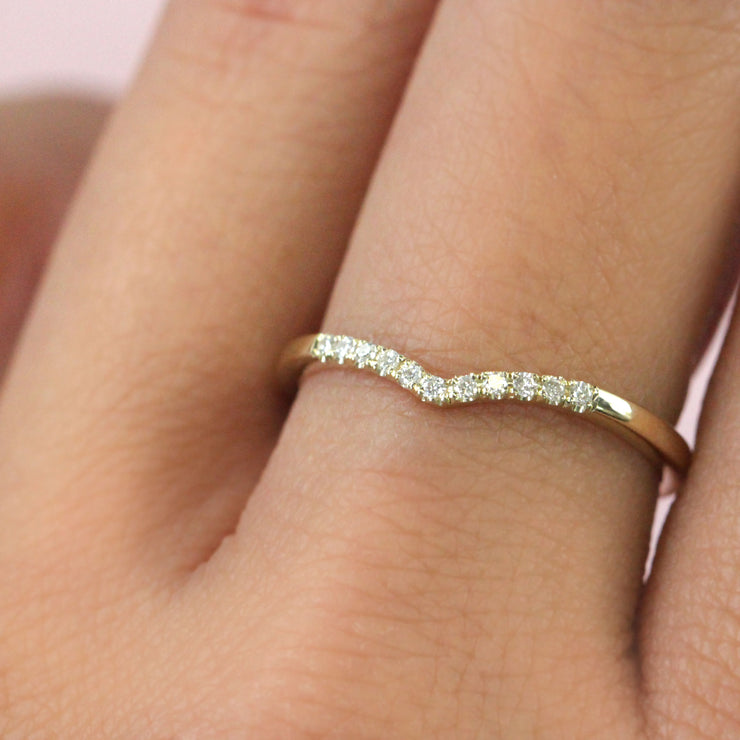 Hannah Ring With White diamonds