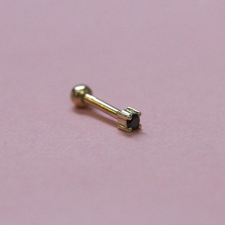 Martina Piercing Earring 2 mm Black Diamond (Single)