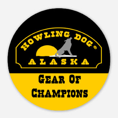 Howling Dog Alaska Bumper Sticker