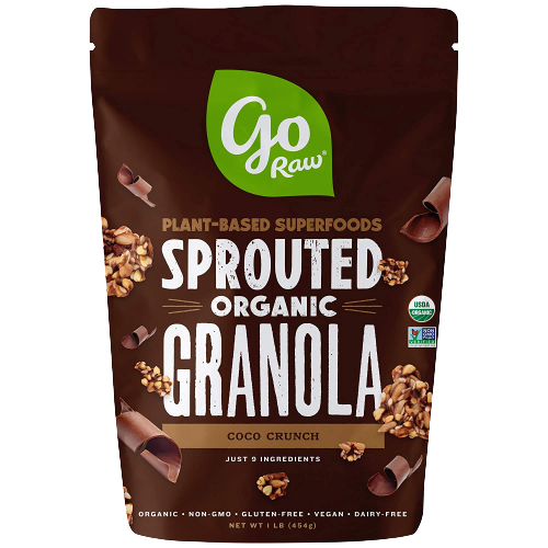 GO RAW, ORGANIC SPROUTED GRANOLA, COCO CRUNCH (454g)