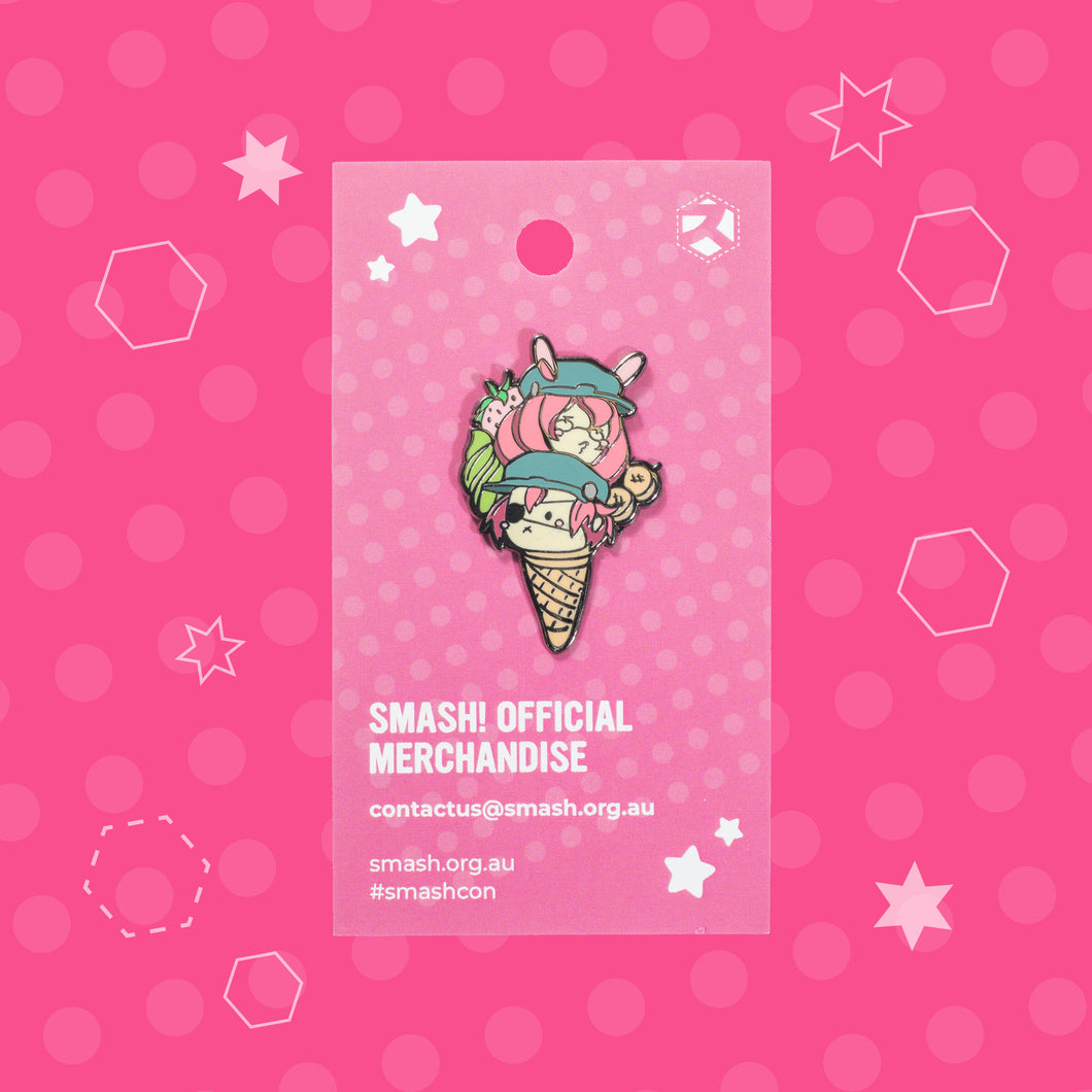 SMASH! Mascot Pin - Cyrus and Skadi Ice-Cream