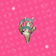 Load image into Gallery viewer, SMASH! Mascot Pin - Cyrus and Skadi Ice-Cream