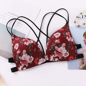 Floral Print Bra for Women
