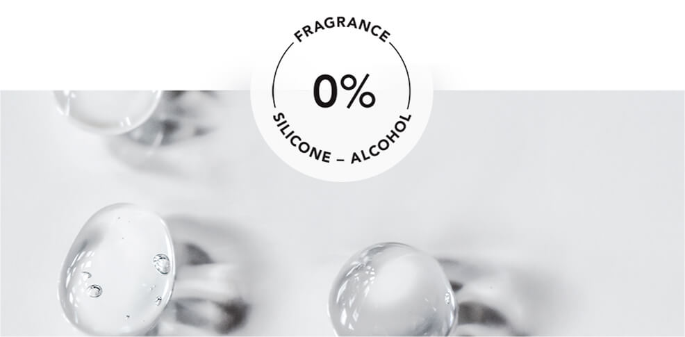0% alcohol - fragrance - silicone