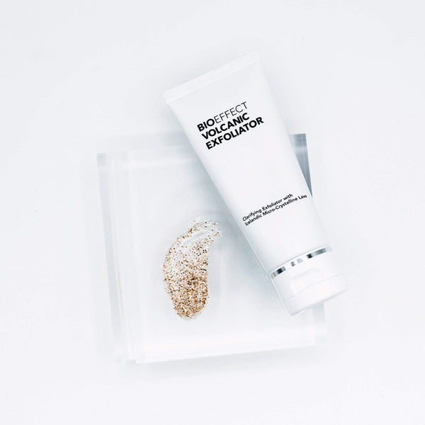 Clarifying BIOEFFECT Volcanic Exfoliator with Crystalline Lava to Smooth Your Skin