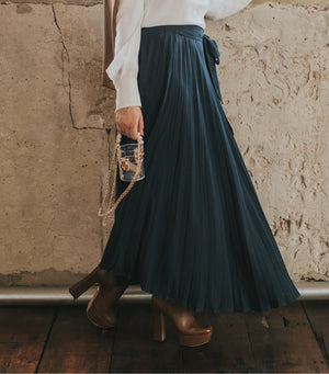 Aysha asymmetrical skirt [Navy]