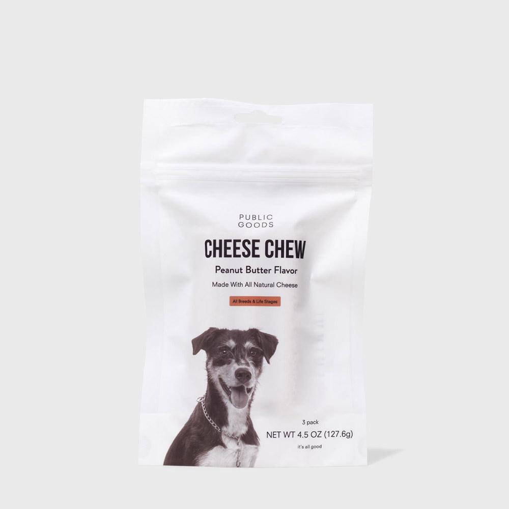 Public Goods Pet Dog Cheese Chew 4.5 oz (Case of 6)