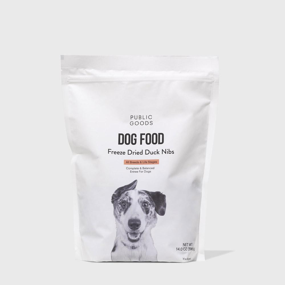 Public Goods Pet Dog Food - Freeze Dried Duck Nibs 14 oz (Case of 5)