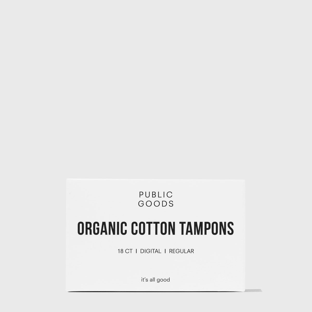 Public Goods Personal Care Cotton Tampons without Applicator - Regular 18 ct (Case of 48)