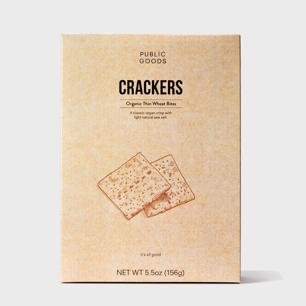 Public Goods Grocery Thin Wheat Crackers 5.5 oz (Case of 12)