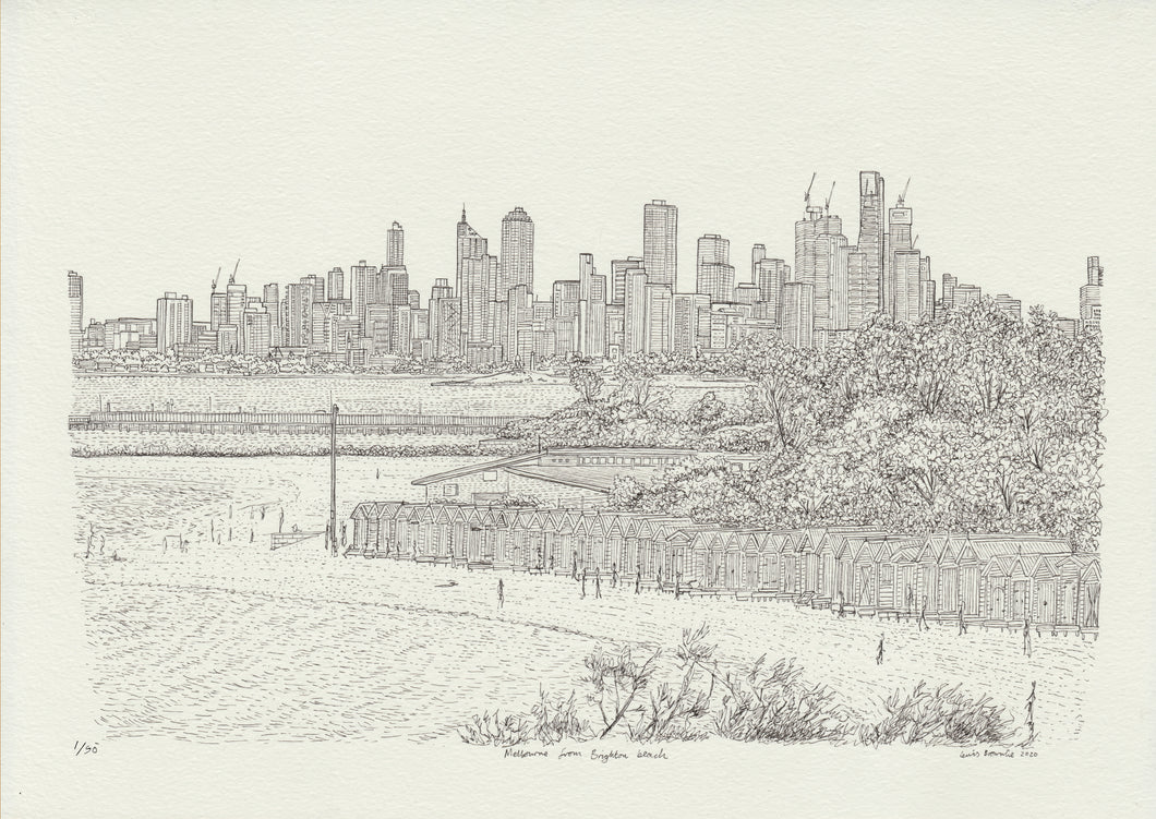 Melbourne from Brighton Beach, Print