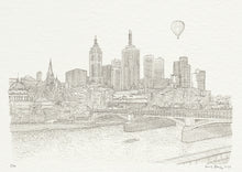 Load image into Gallery viewer, Melbourne Princes Bridge, Line Print