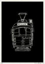Load image into Gallery viewer, Melbourne Tram Print - Night