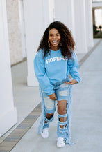Load image into Gallery viewer, Baby Blue Hopeful Sweatshirt